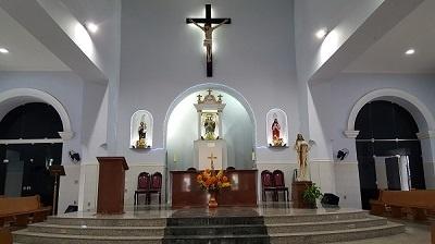 Imagem do altar de Nossa Senhora da Boa Viagem, em 2018.