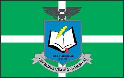 Bandeira da Escola de Ensino Fundamental Benjamim Alves da Silva.