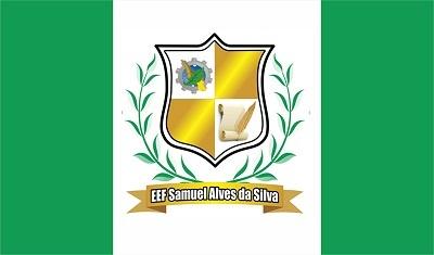 Bandeira da Escola de Ensino Fundamental Samuel Alves da Silva.