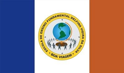 Imagem da Bandeira da Escola de Ensino Fundamental Delfina Vieira da Silva.