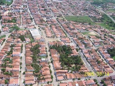 Imagem do Bairro Boaviaginha e do Centro em 2010.
