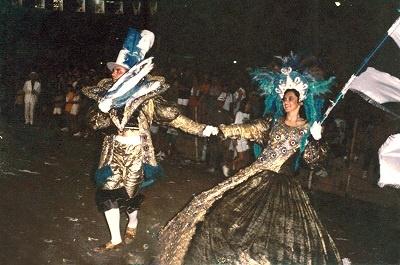 Imagem de passistas do 1º Carnaval da cidade de Boa Viagem.