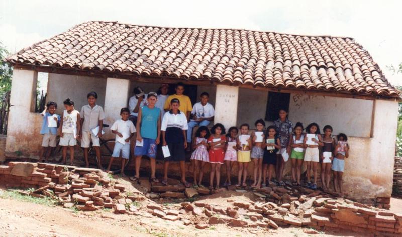 Casa que era adaptada como escola.
