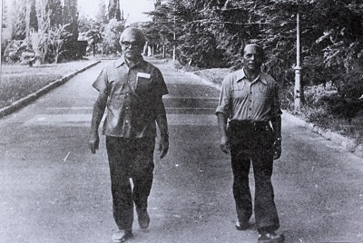 Imagem de David Capistrano na Tchecoslováquia, em 1973.