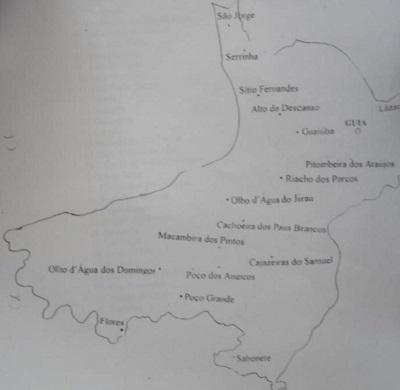 Mapa do Distrito de Guia.