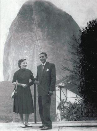 Imagem do Dr. José Maria e sua irmã Zuleica na cidade do Rio de Janeiro.