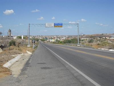 Panorama da cidade de Boa Viagem pela BR-020.