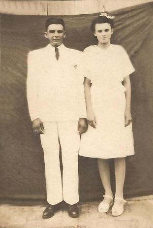 Imagem de Floripes Fragoso da silva e seu esposo.