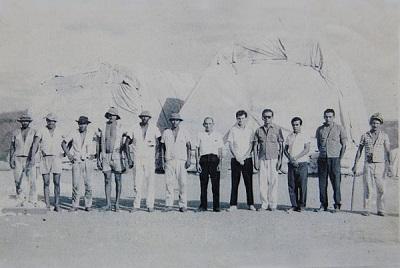 Imagem dos funcionários da SANBRA no fim da década de 1960.