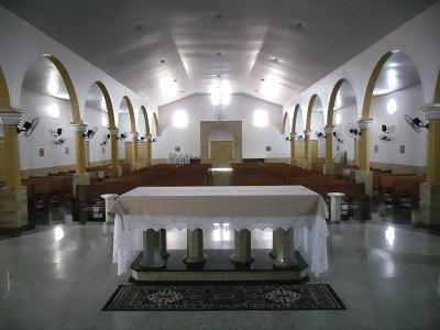 Imagem da nave do templo, em 2015.