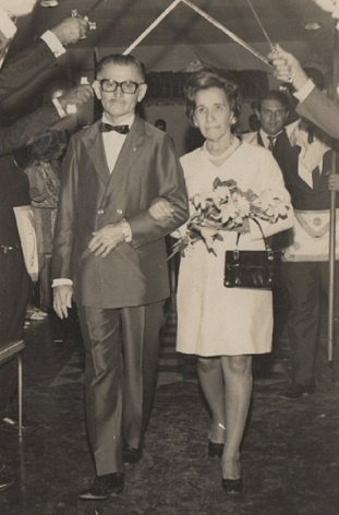Imagem da comemoração de suas bodas de prata em sua Loja Maçônica no dia 29 de novembro de 1970.