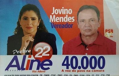 Imagem de seu material de campanha.