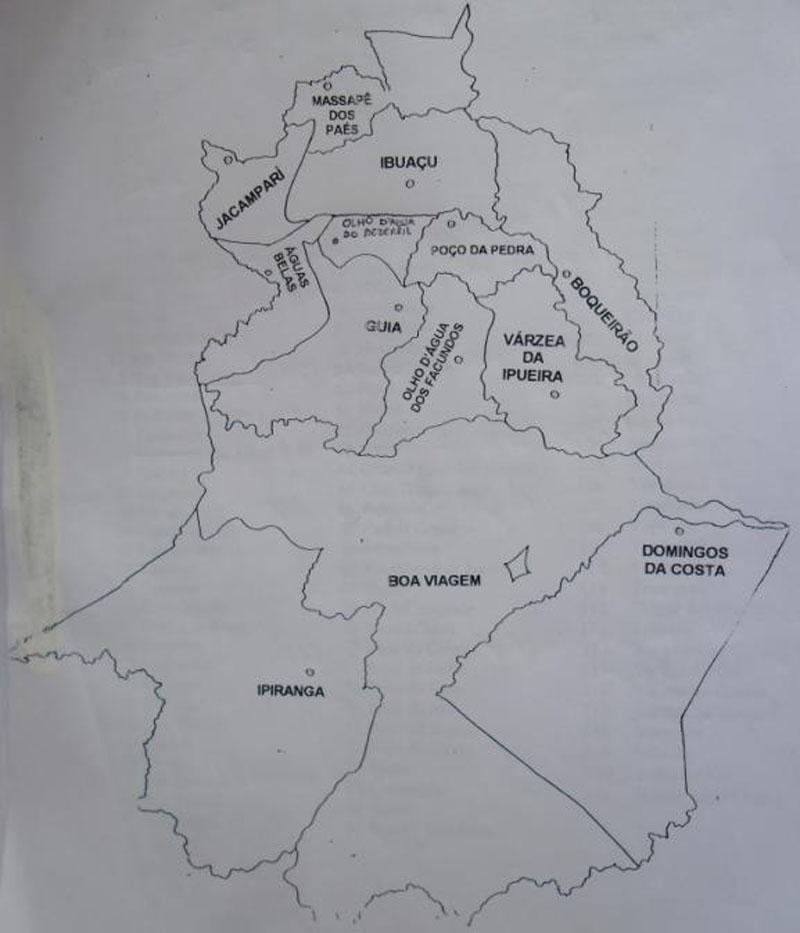 Mapa Político do Município de Boa Viagem.