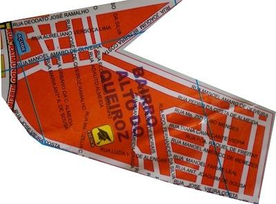 Mapa do Bairro Alto da Queiroz.
