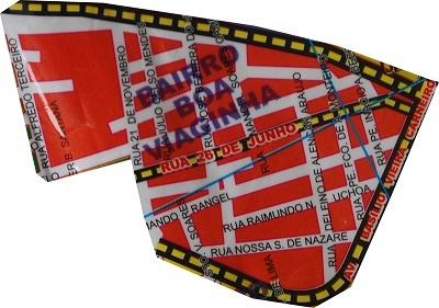 Mapa do Bairro Boaviaginha.
