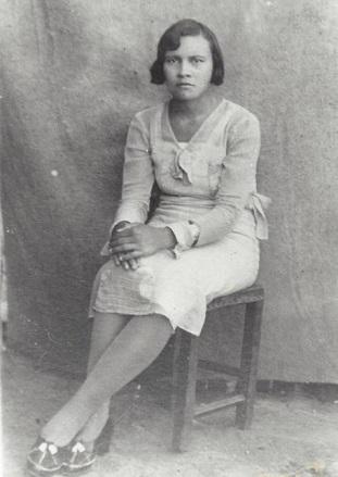 Maria Cristina da Silva, por volta de 1935.