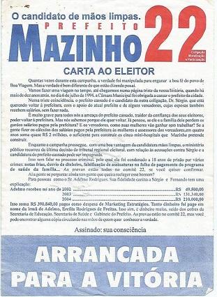 Material de campanha.