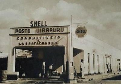 Imagem do Posto Uirapuru, década de 1950.
