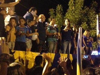 Imagem de um comício que ocorreu no Bairro José Rosa, em 2016.