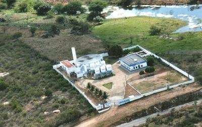Imagem aérea da Estação de Tratamento do Sistema de Abastecimento de Água e Esgoto de Boa Viagem, em 2013.