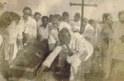 Imagem do sepultamento de José Inácio de Carvalho.