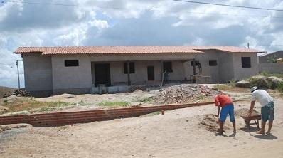 Imagem da construção da Unidade Básica da Saúde Luiz Gonzaga Ferreira de Almeida.