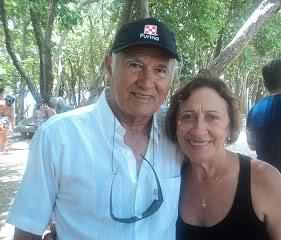 Dr. Zenon e sua esposa, Marion Mesquita.