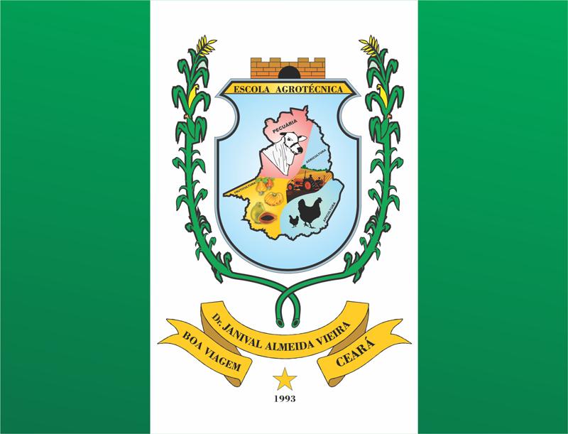 Bandeira da Escola Agrotécnica Dr. Janival Almeida Vieira.
