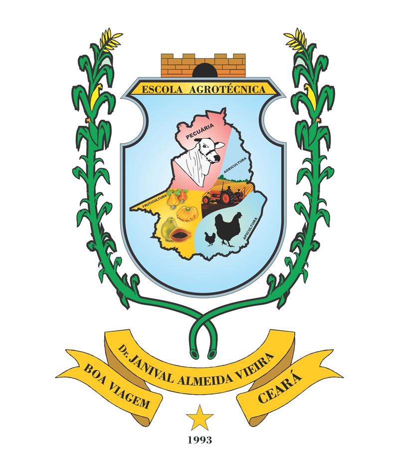 Brasão da Escola Agrotécnica Dr. Janival Almeida Vieira.