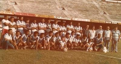 Imagem do elenco da seleção do Município de Boa Viagem, em 1982.