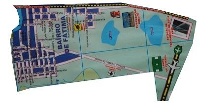 Mapa do Bairro de Nossa Srª de Fátima.