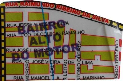 Mapa do Bairro Alto do Motor.